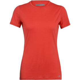 Icebreaker Amplify T-shirt manches courtes Col ras-du-cou bas Femme, fire